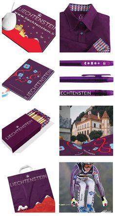 Фирменный стиль бренда Лихтенштейн. Разработка — Wolf Olins