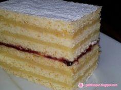 Prajitura cu foi si crema de gris, Rețetă Petitchef Romanian Food, Vanilla Cake, Gem, Sweets, Desserts, Google, Kuchen, Tailgate Desserts, Deserts