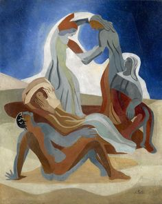 .  EXTER, ALEXANDRA (1882-1949)    Dancers on a Beach, signed. Oil on canvas, 81 by 65 cm.