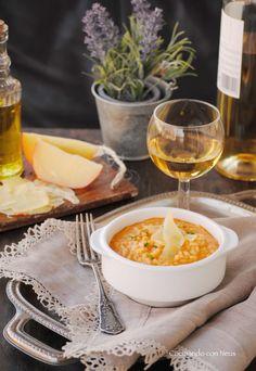 Risotto de sobrasada con queso de Mahón