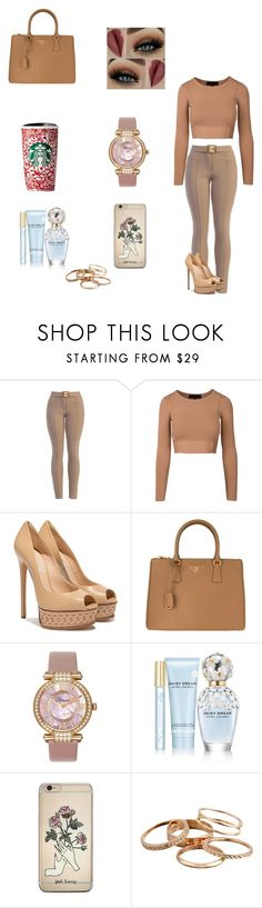 """Cute 🖐🏽"" by dajahknox ❤ liked on Polyvore featuring Casadei, Prada, Chopard, Marc Jacobs and Kendra Scott"