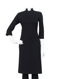 c8cd4cff512f EVA-dress black Big Girl Fashion, Priest, Dress Black, Work Clothes,. Casual  Priest