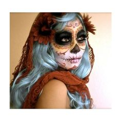 Sugar Skull ❤ liked on Polyvore featuring makeup, people, costumes, halloween and beauty