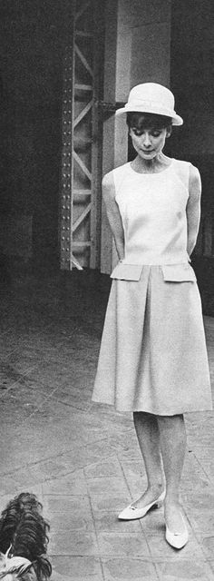 Audrey during the break of filming 'Paris when it sizzles',1962