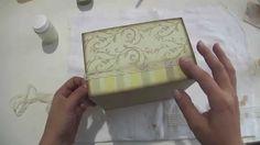 Video Aula: Caixa Romantica com carimbo | Livia Fiorelli | LifeArtesanato