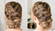 Dutch Braid and Low Bun | Missy Sue