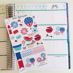 4th of July Kit #Murica for YOUR planner! | Erin Condren Planner / Plum Paper Planner / Filofax / Kikki K / Planner