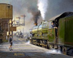 Philip D Hawkins online art gallery. Classic British railway scenes captured on canvas by this world renowed painter of trains and railway subjects. Train Drawing, Heritage Railway, Old Steam Train, Railroad History, Steam Railway, Bonde, Train Art, Railway Posters, Old Trains