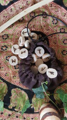 Elder Futhark Handmade Hazel Runes by Roughstickwoodcrafts on Etsy