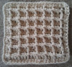 The waffle stitch is a simple crochet stitch consisting of double crochets and front post double crochets. It has beautiful texture and design, looking so intricate - like you spent many more hours on the project than you really did!