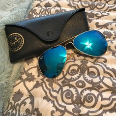 Shop Women's Ray-Ban size OS Sunglasses at a discounted price at Poshmark. Description: blue flash aviators, minor scuffs on lens nothing bad!. Sold by gabbymazur. Fast delivery, full service customer support.