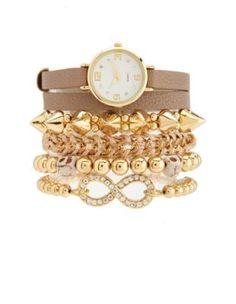 Outfit No. 6 - wrapped watch & bracelet 5-piece set