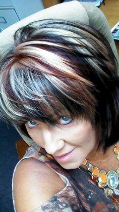Top shot.....my new Fall Hair Colors!!!  Toni's House of Style rocks!!!!  Kristi Merrit!!!