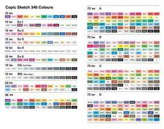 copic sketch color chart pdf coloringsite co