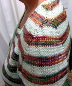 contiguous method of top down sweater