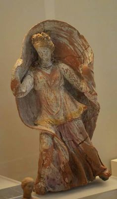 Terracotta Statuette of draped woman. 4 th century BC. Nafphion Archaeological Museum
