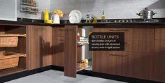 western modular kitchen corner shelves - Google Search