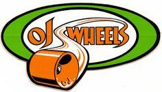 OJ Wheels Santa Cruz Skateboards Vintage sticker