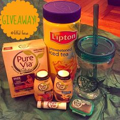 Iced Tea Recipe Duo: Pure Via Review & GIVEAWAY - Fitful Focus @Tiffany Jones Focus!