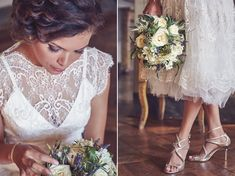 A Short Lace Dress and Shades of Navy Blue for a Garden Blessing in Tuscany | Love My Dress® UK Wedding Blog