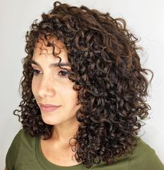 Hairstyles For Medium Length Naturally Curly Hair For Dances - 50 natural curly hairstyles to try in 2019 - hair adviser Layered Curly Haircuts, Mid Length Curly Hairstyles, Haircuts For Curly Hair, Curly Hair Cuts, Long Layered Hair, Short Curly Hair, Curly Hair Styles, Natural Hair Styles, Short Curls