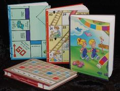 journals from old board games