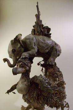 Natural History Surrealism. Ellen Jewett Sculptures https://www.etsy.com/shop/creaturesfromel