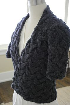 Free sweater wrap pattern on Ravelry