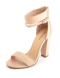 Ankle-Cuff Thick Heel Pump: Charlotte Russe