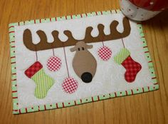 Christmas Antlers on Cream | by The Patchsmith