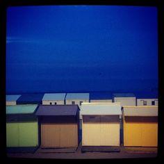 Strandhuisjes.