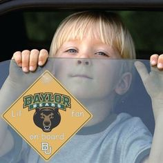 "Baylor ""Lil Fan Bears On Board"" car decal"