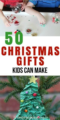 CHRISTMAS GIFTS KIDS CAN MAKE: Finding gifts kids can make can be a challenge sometimes. Making gifts for parents is a fun way to teach kids to be givers. Diy Christmas Gifts For Parents, Toddler Christmas Gifts, Preschool Christmas, Homemade Christmas Gifts, Toddler Gifts, Kids Christmas, Christmas 2019, Student Christmas Gifts, Christmas Decorations