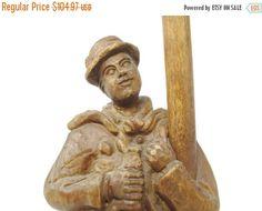 ♥♢ Vintage German Hand #Carved Wooden Drunk with Lamp #Post | Folk Art Stat... Top http://etsy.me/2mUTnit