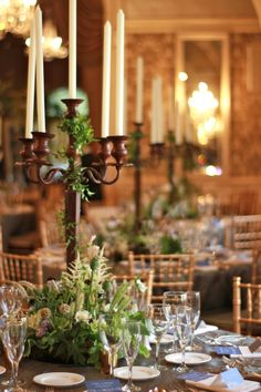 Reception held at the Merion Cricket Club in Haverford, PA. The brown candelabra… – NSaam Centerpieces – Wedding Round Table Centerpieces, Candelabra Centerpiece, Summer Centerpieces, Wedding Centerpieces, Wedding Decorations, Centerpiece Ideas, Wedding Ideas, Wedding Stuff, Silver Candelabra