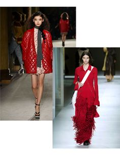 3 Color Trends from Fashion Month We're Translating to Interior Design - DIY Red Photography, 2020 Fashion Trends, Design Color, Ulla Johnson, Fashion Colours, Carolina Herrera, Color Trends, Lady In Red, Looks Great