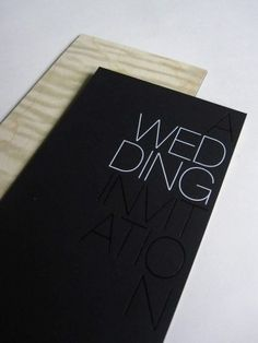 Oh So Beautiful Paper: Modern Foil Stamp Wedding Invitations
