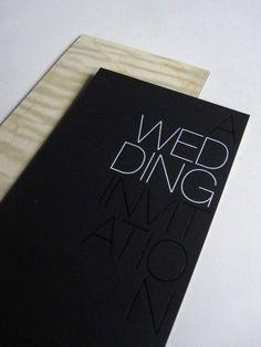Typography slick black and white invitation
