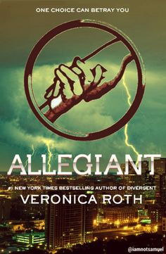 My fan made cover for the final Divergent book: ALLEGIANT!  So excited to read this one! :D