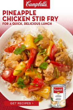 Asian Recipes, Healthy Recipes, Asian Foods, Chinese Recipes, Chinese Food, Yummy Recipes, Pineapple Chicken Stir Fry, Campbells Soup Recipes, Stir Fry Recipes