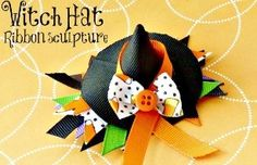 ✂️ Easy DIY Witches Hat Ribbon Sculpture Hair Clippie With Step By Step Instructions✂️