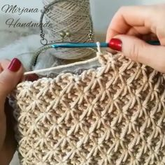 Crochet Tutorial - crochetvideo,crochetbag-If you exercise, you know for sure how long one minute is. However, when you crochet, and try to make a one Crochet Circles, Crochet Motifs, Crochet Stitches Patterns, Tunisian Crochet, Knitting Stitches, Stitch Patterns, Knitting Patterns, Crochet Designs, Knit Crochet