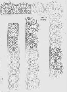 Foto - Foto Google Bobbin Lace Patterns, Lacemaking, Cross Stitch Embroidery, Tatting, Knit Crochet, Sewing, How To Make, Crafts, Acupressure