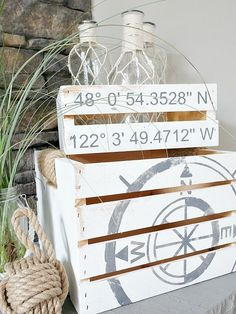 The compass crate is a beautiful addition to a #rustic designed home. #decor