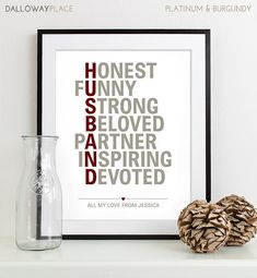 Unique Husband Gift For Anniversary Gifts For Men Paper Print Poster Husband Wedding Gift For Him