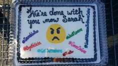 Coworker Going Away Cake / Funny Cake . This Pin was discovered by Shauna Freeman.) your own Pins on Hilarious Farewell Cakes Goodbye Coworker, Goodbye Gifts For Coworkers, Farewell Coworker, Gift For Coworker Leaving, Leaving Gifts, Goodbye Cake, Goodbye Party, Going Away Cakes, Going Away Gifts