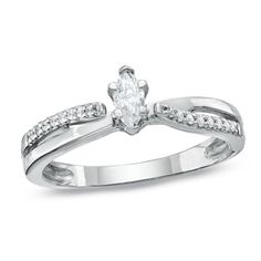 Another pretty ring. I love the Marquise cut.
