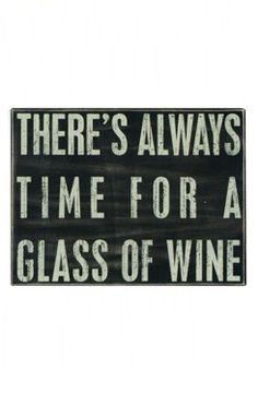 Primitives by Kathy 'Glass of Wine' Box Sign
