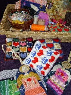 A pile of crafty pieces, some finished, others are works-in-progress.     http://rubykittyruby.weebly.com/blog
