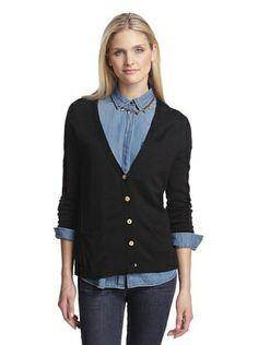 79% OFF Cotton Addiction Women's Split Back Cardigan (Black)